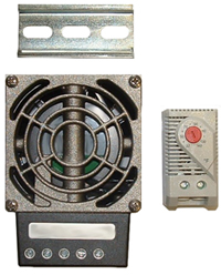 BW-100WHTR 100 watt heater with fan/blower to circulate heated air for use with medium indoor or outdoor enclosures