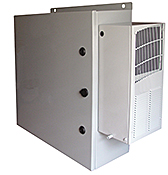 Mier outdoor NEMA 4X stainless steel enclosure with AC
