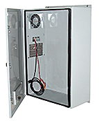 Mier stainless steel NEMA 4X enclosure with AC