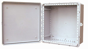 BW-242410 outdoor, NEMA 4X, non-metallic electrical enclosure from Mier Products