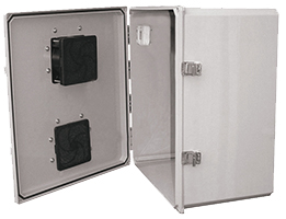 BW-FC181610 outdoor, NEMA 3R fan-ventilated, non-metallic enclosure from Mier Products