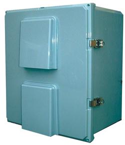 BW-FC181610 standard door, outdoor, NEMA 3R fan-ventilated non-metallic enclosure from Mier