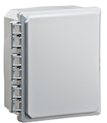 BW-L1086 standard door, snap-latch, outdoor/indoor, polycarbonate, non-metallic, NEMA rated electrical enclosure from Mier.