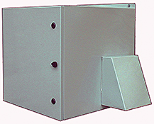 Mier stainless steel NEMA 3R fan-ventilated outdoor rack enclosure