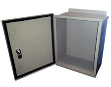BW-119L outdoor, NEMA 3R, 4 electrical and heated enclosure from Mier Products