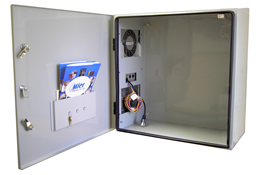 BW-124-ACHT outdoor NEMA 4 temperature controlled enclosure from Mier Products
