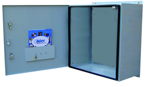 BW-124-BP outdoor, NEMA 3R, 4 electrical enclosure from Mier