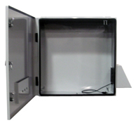 BW-124FC fan-cooled, outdoor, NEMA 3R enclosure from Mier Products