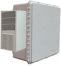 BW-242410ACHT outdoor, NEMA 4 temperature controlled, non-metallic enclosure from Mier Products