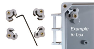 """BW-BPAK adjustment kit allows installers to adjust the height of a panel from the back of the enclosure, or to """"stack"""" multiple panels within the enclosure."""