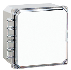 BW-L663 clear door, outdoor/indoor, polycarbonate, non-metallic, NEMA rated electrical enclosure from Mier