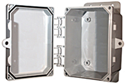 BW-L863 standard door, snap-latch, outdoor/indoor, polycarbonate, non-metallic, NEMA rated electrical enclosure from Mier