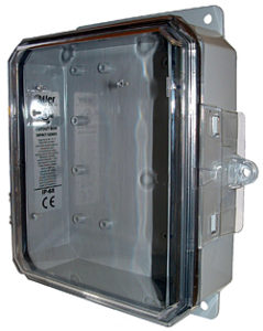 BW-L982C clear door, outdoor/indoor, polycarbonate, non-metallic, NEMA rated electrical enclosure from Mier