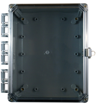 BW-SL1084C clear door, stainless latch, outdoor/indoor, polycarbonate, non-metallic, NEMA rated electrical enclosure from Mier