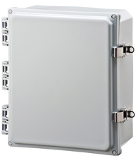 BW-SL12104 standard door, stainless latch, outdoor/indoor, polycarbonate, non-metallic, NEMA rated electrical enclosure from Mier