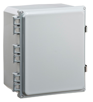 BW-SL12106 standard door, stainless latch, outdoor/indoor, polycarbonate, non-metallic, NEMA rated electrical enclosure from Mier.