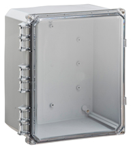 BW-SL12106C clear door, stainless latch, outdoor/indoor, polycarbonate, non-metallic, NEMA rated electrical enclosure from Mier