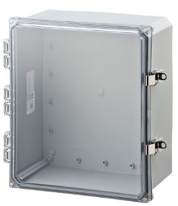 BW-SL14126C stainless latch, standard door, outdoor/indoor, polycarbonate, non-metallic, NEMA rated electrical enclosure from Mier