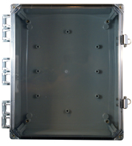 BW-SL16147C clear door, outdoor/indoor, polycarbonate, non-metallic, NEMA rated electrical enclosure from Mier