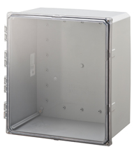 BW-SL181610C clear door, stainless latch, outdoor/indoor, polycarbonate, non-metallic, NEMA rated electrical enclosure from Mier