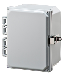 BW-SL864 stainless latch, outdoor/indoor, ploycarbonate, non-metallic NEMA rated electrical enclosure from Mier