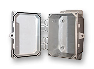 Outdoor/indoor, polycarbonate, non-metallic, NEMA rated electrical enclosures from Mier Products